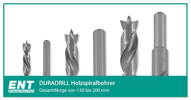 Extra lange ENT DURADRILL Holzbohrer für Akkubohrmaschine und Handbohrmaschine