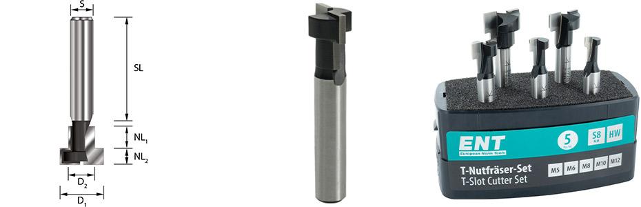 ENT T-Nutfräser metrisch M5-6-8-10-12 anwendung bemaßung