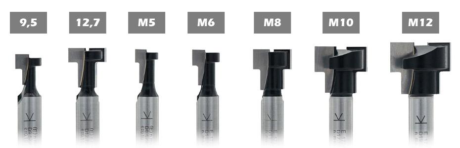 ENT T-Nutfräser metrisch M5-6-8-10-12