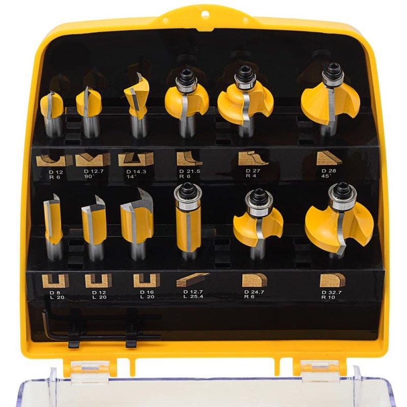 ent 12 tlg oberfr ser fr ser set in gelber kunststoffkassette schaft 8mm 109 90. Black Bedroom Furniture Sets. Home Design Ideas