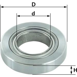 ENT Ersatzteil Kugellager mit Ring D25,4 x d12,7mm