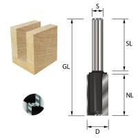 ENT Nutfräser HW S8x32 Z2+1 D10x20 mm GL 52 mm mit HW Grundschneide