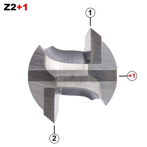 ENT Nutfräser HW S12x40 Z2+1 D12x50 mm GL 94 mm mit HW Grundschneide