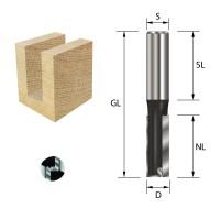 ENT Nutfräser HW S12x40 Z2+1 D16x20 mm GL 60 mm mit HW Grundschneide