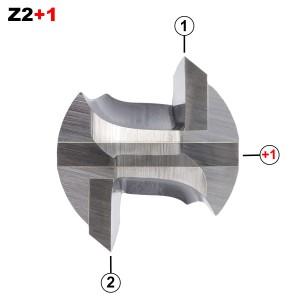 ENT Nutfräser HW S12x40 Z2+1 D25x20 mm GL 60 mm mit HW Grundschneide
