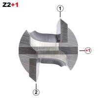 ENT Nutfräser HW S12x55 Z2+1 D30x35 mm GL 90 mm mit HW Grundschneide
