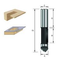 ENT Ausstechfräser und Kopierfräser HW (HM) S8x32 D8x19 mm GL67 mm