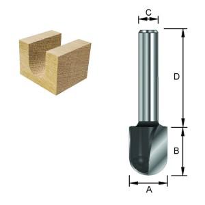 ENT Wasserrinnenfräser HW (HM) S8x32 Z2 R3 D6x12,7mm