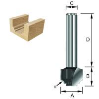 ENT Nutenprofilfräser HW (HM) S6x32 Z2 R2 D12,7x9,5mm