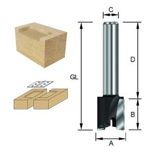 ENT Planfräser HW (HM), S12x40 Z2 D=30 / NL 12 mm
