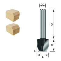 ENT Fas-Bündigfräser HW (HM) S8x32 Z2 30° D12,7x12,7mm