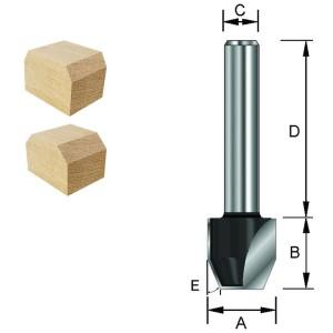 ENT Fas-Bündigfräser HW (HM) S12x40 Z2 22° D12,7x12,7mm