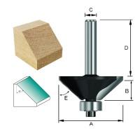 ENT Fasefräser HW (HM) mit Kugellager S12x40 Z2 45° D44,5x15,9mm