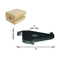 ENT Scheibennutfräser HW (HM) S8 Z3 D47,6x3mm