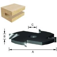 ENT Scheibennutfräser HW (HM) S8 Z4 D50,8x2,5mm