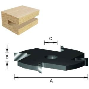 ENT Scheibennutfräser HW (HM) S8 Z4 D50,8x3mm
