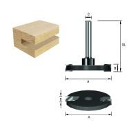 ENT Scheibennutfräser HW (HM) S8 Z2 D40 x 3 mm auf Aufnahmedorn montiert