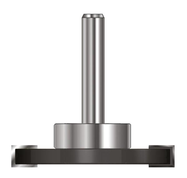 ENT Scheibennutfräser HW (HM) mit KL D28mm S8 D40xB2,5 GL55mm auf Spindel montiert