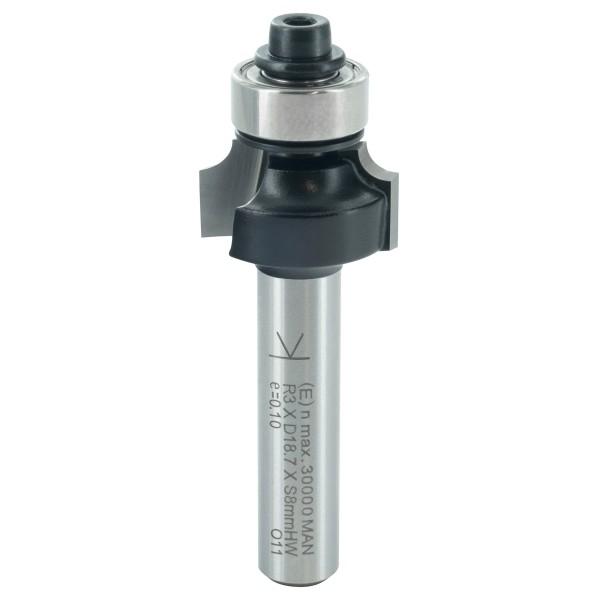 ENT Abrundfräser HW mit Kugellager S8x32 R3 D18,7x9,5mm