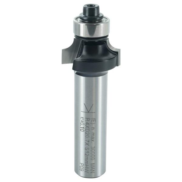 ENT Abrundfräser HW mit Kugellager S12x40 R4 D20,7x9,5mm