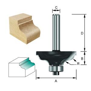ENT Karnisfräser HW (HM) mit Falz und Kugellager S8x32 Z2 R4,8 D34,9x14,3mm
