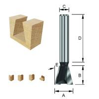 ENT Gratfräser HW (HM) ohne Vorschneider S12x40 Z2 14° D19x19mm