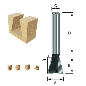 ENT Gratfräser HW (HM) ohne Vorschneider S12x40 Z2 14° D25,4x22,2mm