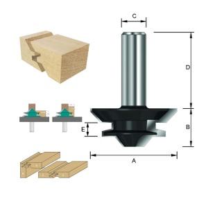 ENT Gehrungs-Verleimfräser HW (HM) S12x40 Z2 D44,45x19mm für Holzstärken von 10 bis 16 mm