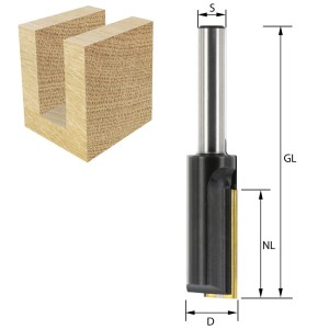 ENT Wendeplatten-Nutfräser HW S8 Z1 D16x30 GL74mm