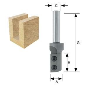 ENT Wendeplatten-Nutfräser HW (HM) S12 Z1+1 D16x30...