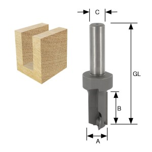 ENT Wendeplatten-Nutfräser HW (HM) S12 Z1+1 D18x30 GL82mm