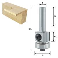ENT Wendemesser-Bündigfräser HW mit Kugellager S8x30 Z2 D19x12mm