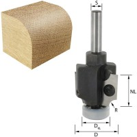 ENT Wepla Abrundfräser und Viertelstabfräser HW (HM) S8x30 Z2 R2 D26x19,5mm mit 2 Kugellager