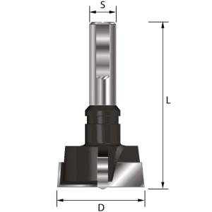 ENT Zylinderkopfbohrer HW (HM) mit Spannfläche S10 D18 GL57mm Rechts