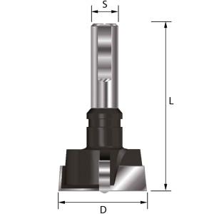 ENT Zylinderkopfbohrer HW (HM) mit Spannfläche S10...
