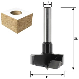 ENT Zylinderkopfbohrer HW (HM) für Handoberfräse S8 D25 GL60mm