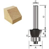 ENT Fasefräser HW (HM) mit Kugellager S12x40 Z2 45° D36x11,6mm