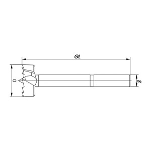 ENT Spur Bit 30mm - NL80 GL140 S12,7 - 3 Flächen