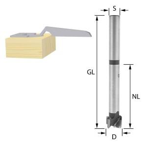 ENT Kunstbohrer extra lang HW 15mm - NL75 GL125 S13mm