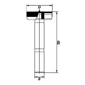 ENT Kunstbohrer extra lang HW 85mm - NL110 GL160 S16mm