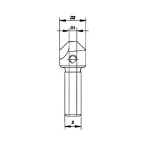 ENT Aufsteckversenker WS 5 / 16mm - NL10 GL46 S12mm