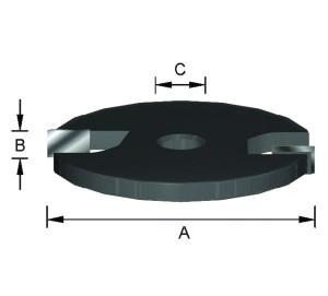 ENT Scheibennutmesser HW (HM) Z2 D40 x 2 mm mit Senkbohrung