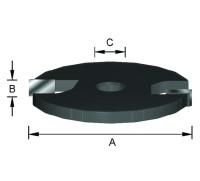 ENT Scheibennutmesser HW (HM) Z2 D40 x 3 mm mit Senkbohrung