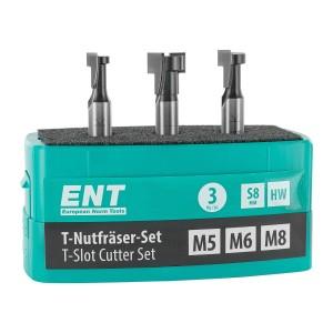 ENT 3-tlg. HW T-Nutfräser-Set optimiert für M5...