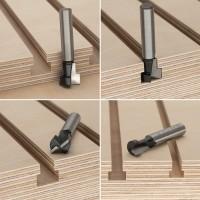 ENT 3-tlg. HW T-Nutfräser-Set optimiert für M5 M6 und M8 Sechskantschrauben, HW (HM), Schaft (S) 8 mm