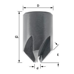 ENT Aufsteckversenker HSS, Durchmesser (d) 6 mm, D 15 mm,...