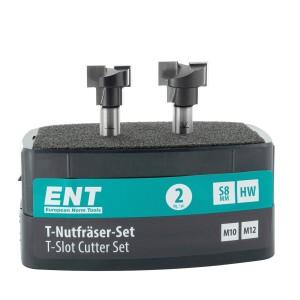 ENT 2-tlg. HW T-Nutfräser-Set optimiert für M10...