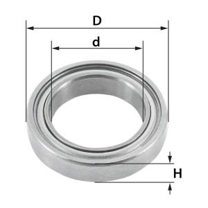 ENT Ersatzteil Kugellager D19 x d12,7mm